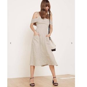Reformation size 4 oatmeal Jaclyn dress